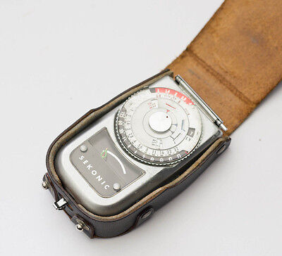 Sekonic Vintage Photography Light Meter w/ Leather Case