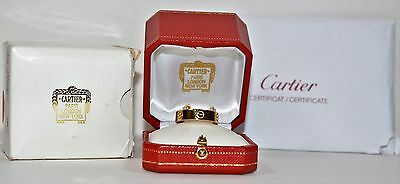 Immaculante Famous Designer Cartier 18kt Yellow Gold Mens Ring