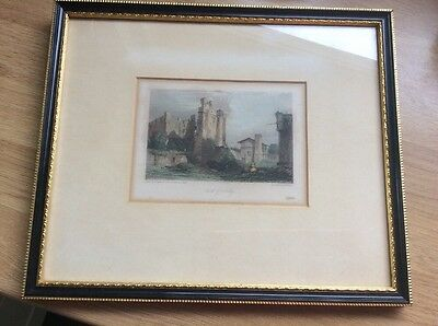 Castle Of Ashby By g Chattermole Framed Print Engraved By E Finden