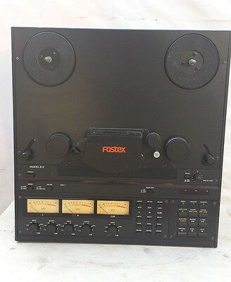 """Fostex E-2 1/4"""" tape 2 track Center Track Time Code Master Reel to Reel Deck"""