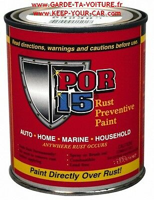 POR15  - Peinture anticorrosion noir satiné 1 Pint (ca 475 ml) /black
