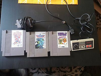 Lot of 3 NES games, controller and RF cable