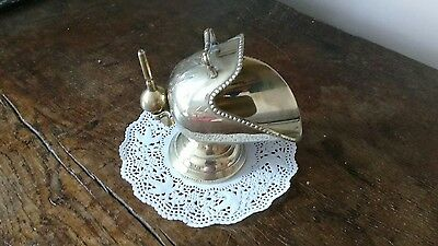 Antique silver plated sugar scuttle and scoop spoon