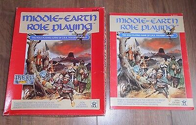 Merp Middle Earth #8100 Role Playing I.c.e. Fantasy Compendium With The Box