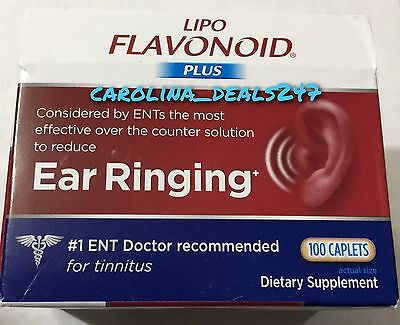 NEW Lipo Flavonoid Plus 100 Caplets Exp June 2019 For Ear Ringing