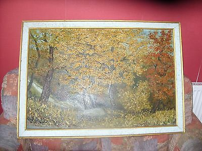 Large Frames Original Oil On Board By Percy E. Davies
