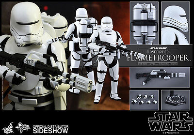 STAR WARS Episode VII: The Force Awakens FIRST ORDER FLAMETROOPER 1/6 HOT TOYS