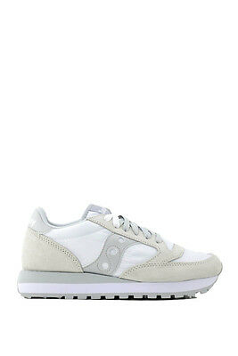 Sneaker donna Saucony Jazz Lowpro in nylon e suede bianco