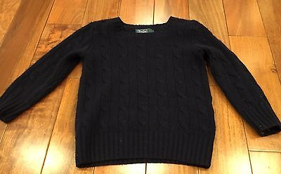 Polo by Ralph Lauren Kids Toddler Navy Blue Size 2T Cashmere Sweater