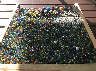 Vintage massive joblot of glass handmade marbles 9.40 KG Weight