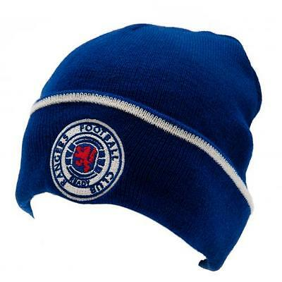 Glasgow Rangers FC Official Adult Sized Knitted Hat TU