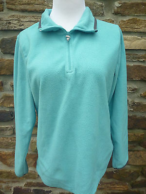 Womens Old Navy  fleece top M Pullover Jacket Blue 1/4 zip long sleeve Blue