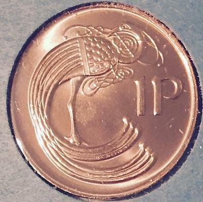 """""""luck Of The Irish"""" Uncirculated 1980 Obsolete Penny - Stylized Bird -  #100"""