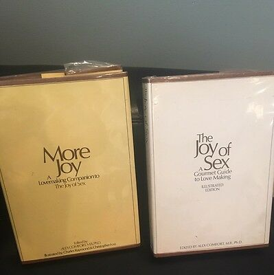 2 THE JOY OF SEX & More Joy by Alex Comfort a Hardcover book