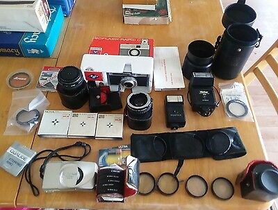 Large Lot of Camera and Camera Accessories Some Vintage