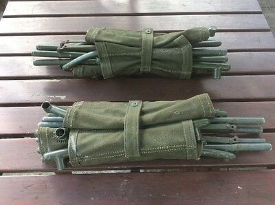 Qty Two British Army Officer's Metal Folding Field Chair Vintage Camping