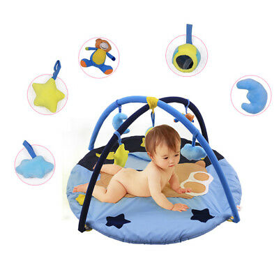 Bear Baby Activity Gym Playmat Play Mat Crawling Tummy Time Play Centre Soft