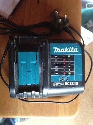Genuine MAKITA 18V 3.0ah  Lithium Battery And Charger Dc18SD