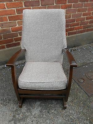 Vintage armchair or nursing chair with rocking action mid 20th C