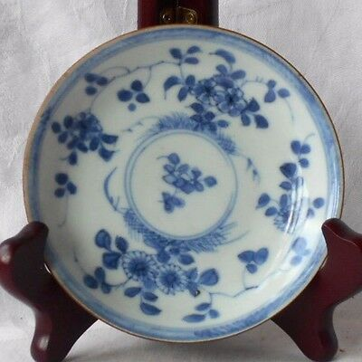 C18Th Chinese Ca Mau Shipwreck Cargo Blue And White Batavan Dish With Flowers