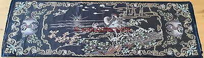 antique CHINESE HAND EMBROIDERED SILK embroidery immortality CRANE BIRDS PICTURE