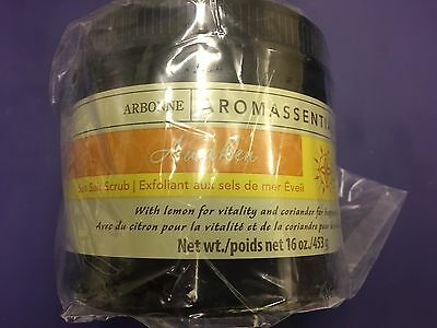 Arbonne Aromassentials Awaken Sea Salt Scrub New