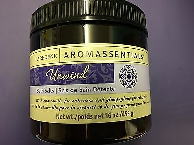 Arbonne Aromassentials Unwind Bath Salts New