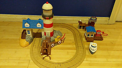 Fisher Price GeoTrax Rail & Road System - Harbor Docks Lighthouse