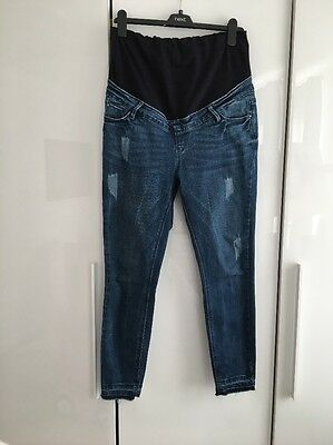 New Look Maternity Skinny Over The Bump Jeans Uk 12 R