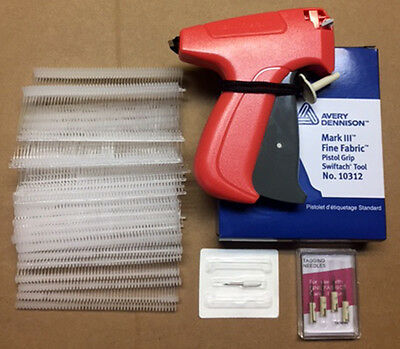 Avery Dennison Fine Tagging Gun with 1000 Barbs and 4 Replacement Needles