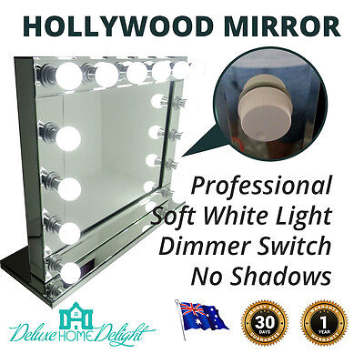 Hollywood Makeup Mirror 14 Soft LED Lights w/- DIMMER Beauty Vanity Home Decor