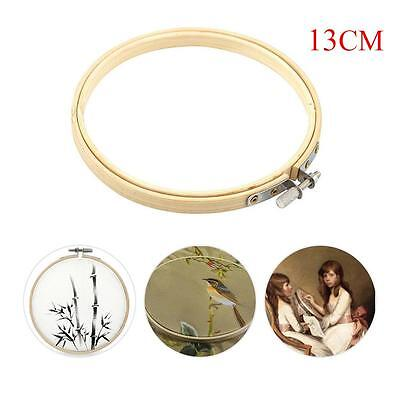Wooden Cross Stitch Machine Embroidery Hoops Ring Bamboo Sewing Tools 13CM GB