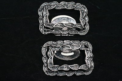 Tip Toe Vintage Silver Tone Shoe Clips Shoe Accessories