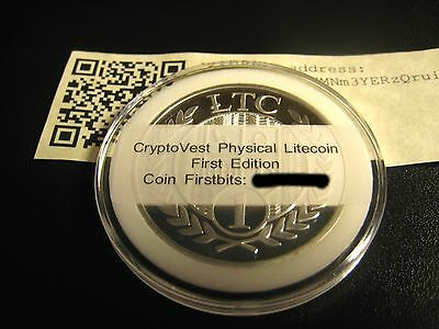 Cryptovest First Edition Litecoin Physical Wallet Coin 1.0 LTC FUNDED