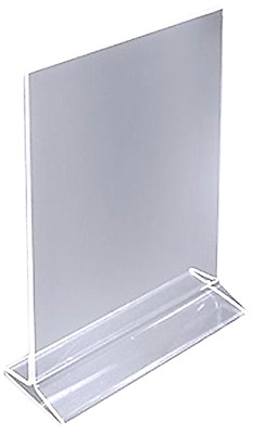 Dazzling Displays Acrylic Sign Holder/Table Card Display/Plastic Upright Menu, 4