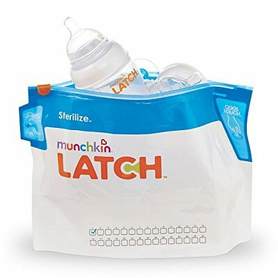 Munchkin Warmers Sterilizers Latch Microwave Sterilize Bags, 180 Uses, Pack