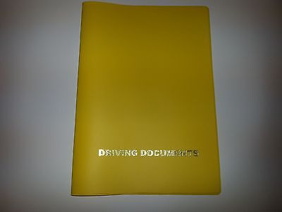A5 Yellow Look Car Document Holder Holder With Card Pocket