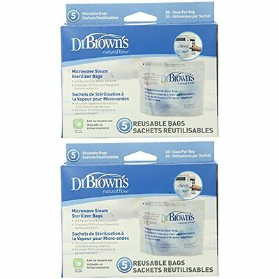 Dr. Warmers Sterilizers Browns Microwave Steam Sterilizer Bags Packs Count Bags