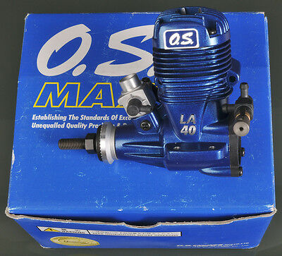 NEW w/BOX ~ BLUE O.S. MAX MODEL AIRCRAFT ENGINE & MUFFLER ~ PERFECT CONDITION!