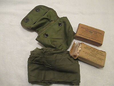 Vintage US ARMY camo 1st aid Pouch & 2 packs of bandages