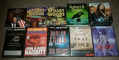 Lot of Audiobooks ~ 5 MP3 Audiobooks & 5 Audiobooks on CD