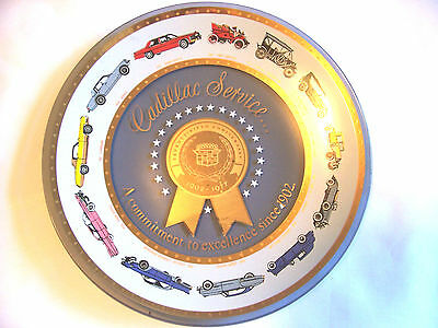 Vintage Cadillac Service Collectible Glass Plate 75th Anniversary 1902-1977