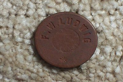 F.W. Ludwig Ellinwood Kansas Good for 5c Trade Token