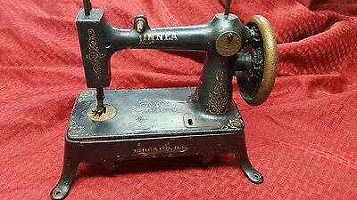 Antique 1890's Linnea Compact Hand Operated Sewing Machine
