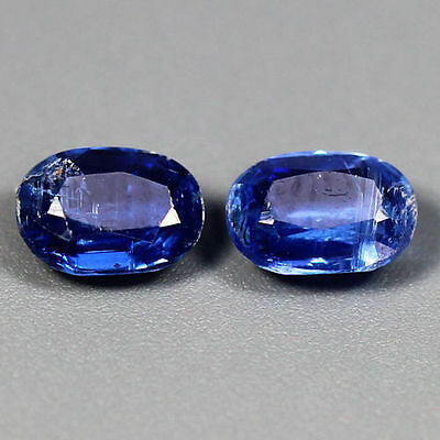1.08 Cts_Simmering Ultra Nice Matching Pair_100 % Natural Royal Blue Kyanite