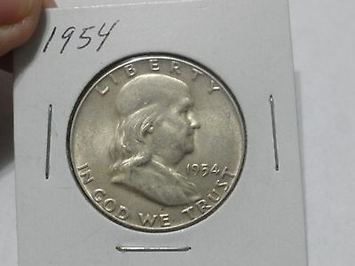 1954 Franklin Half Dollar - AU Condition - Nice Coin!
