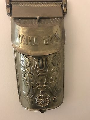 Antique /Vintage Brass Letter Mail Box - Very Hard To Find