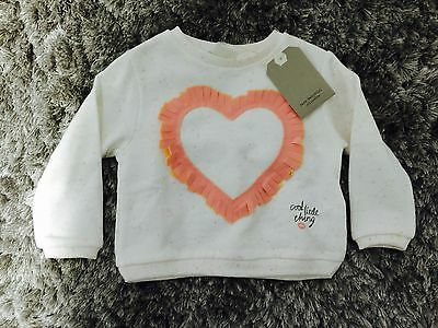 BNWT Zara Baby Girl Love Heart Jumper - Size 9-12M