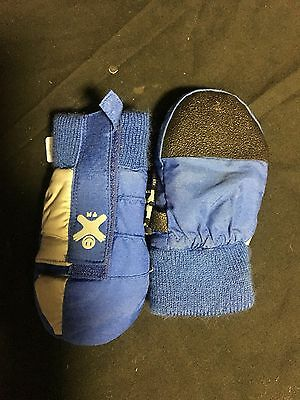 Moistureloc Kids Snow Gloves Mittens Blue New Not Worn Valcro Fastener Size 4xs