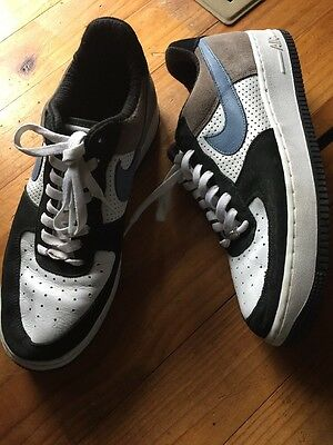 Nike Airforce 1 Size 11us Black, White And Blue